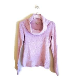 ❤️oneA Pink Long Sleeve Cowl Neck Sweater Size M